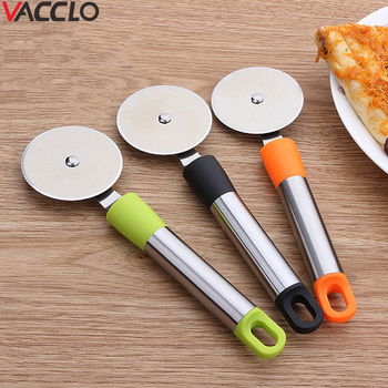 Vacclo 1pc Round Pizza Cutter Stainless Steel Pizza Knife Cutter Pastry Pasta Dough kitchen Baking Tools Kitchen Ware