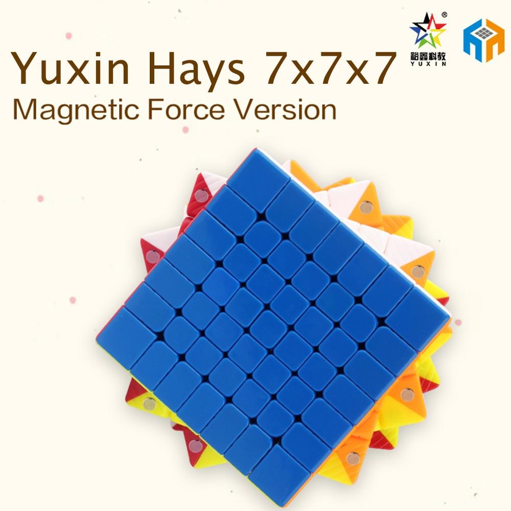 Nouveau Yuxin Hays 7x7x7 et Hays M 7x7x7 Magnétique Vesion Zhisheng 7x7 Cube Magique Professionnel Vitesse Cube Jouets Éducatifs Pour Les Enfants