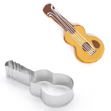 Violin Stainless Steel Cookies Mold Music Elements Clay Polymer Modeling Tools
