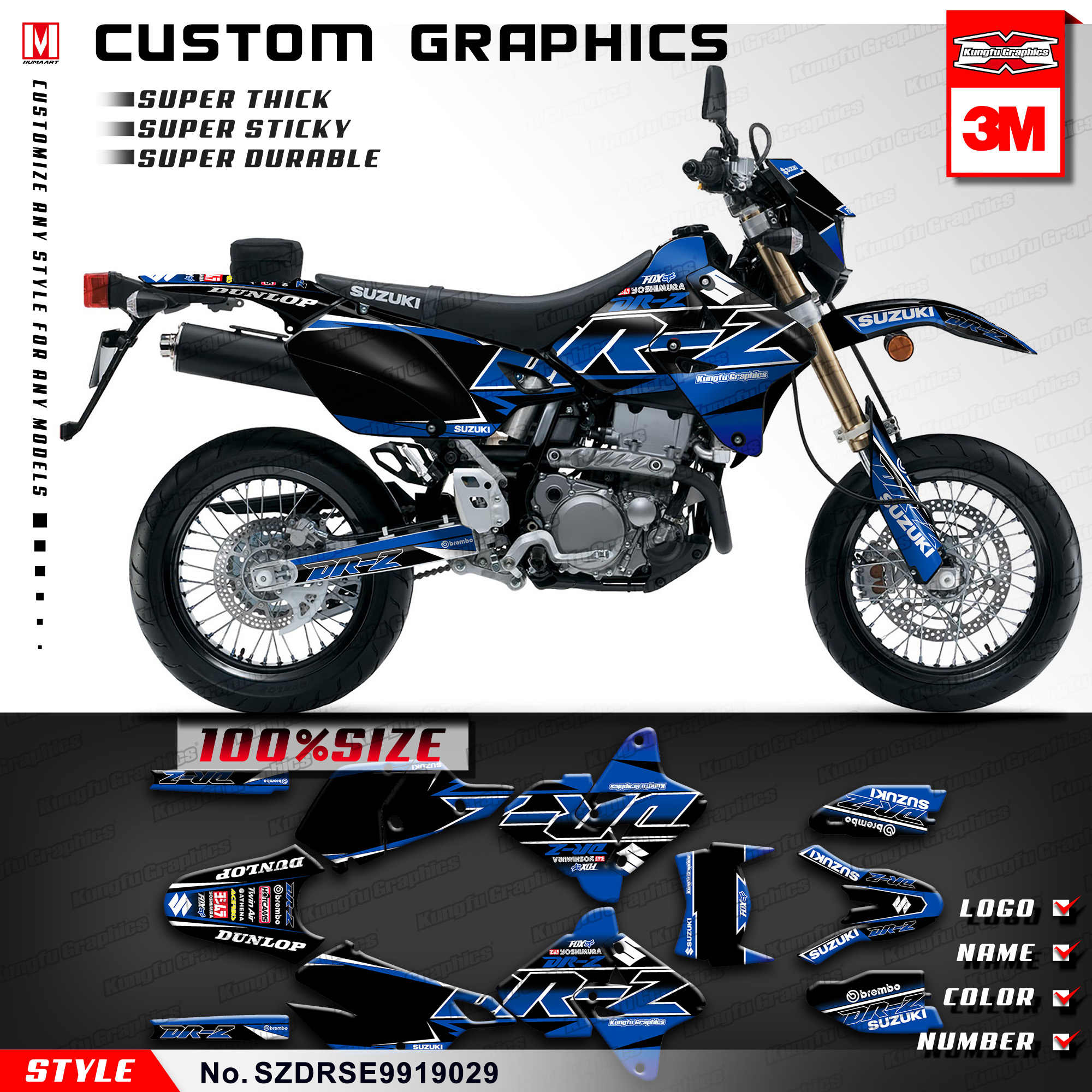 Incredible Kungfu Graphics Vehicle Wrap Vinyl Stickers Kit For Suzuki Pabps2019 Chair Design Images Pabps2019Com