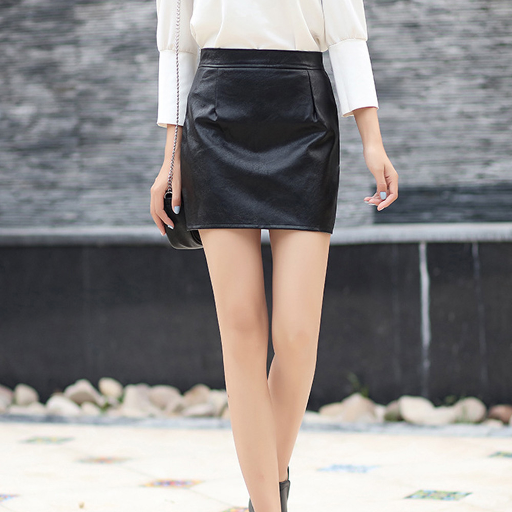 catch entire collection find lowest price US $2.48 36% OFF|Sexy Black PU Leather Bodycon Skirts Women Faux Leather  High Waist Slim Party Pencil Skirt Official Lady Black Short Mini Dress-in  ...