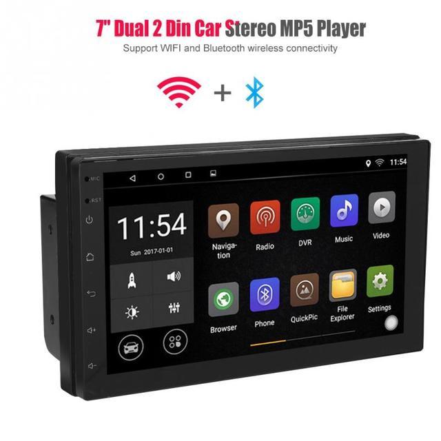 "7 ""WIFI מולטימדיה Bluetooth נגן כפול 2 דין רכב רדיו סטריאו GPS אנטנה 1 + 16G עבור אנדרואיד מלא מגע ניווט"