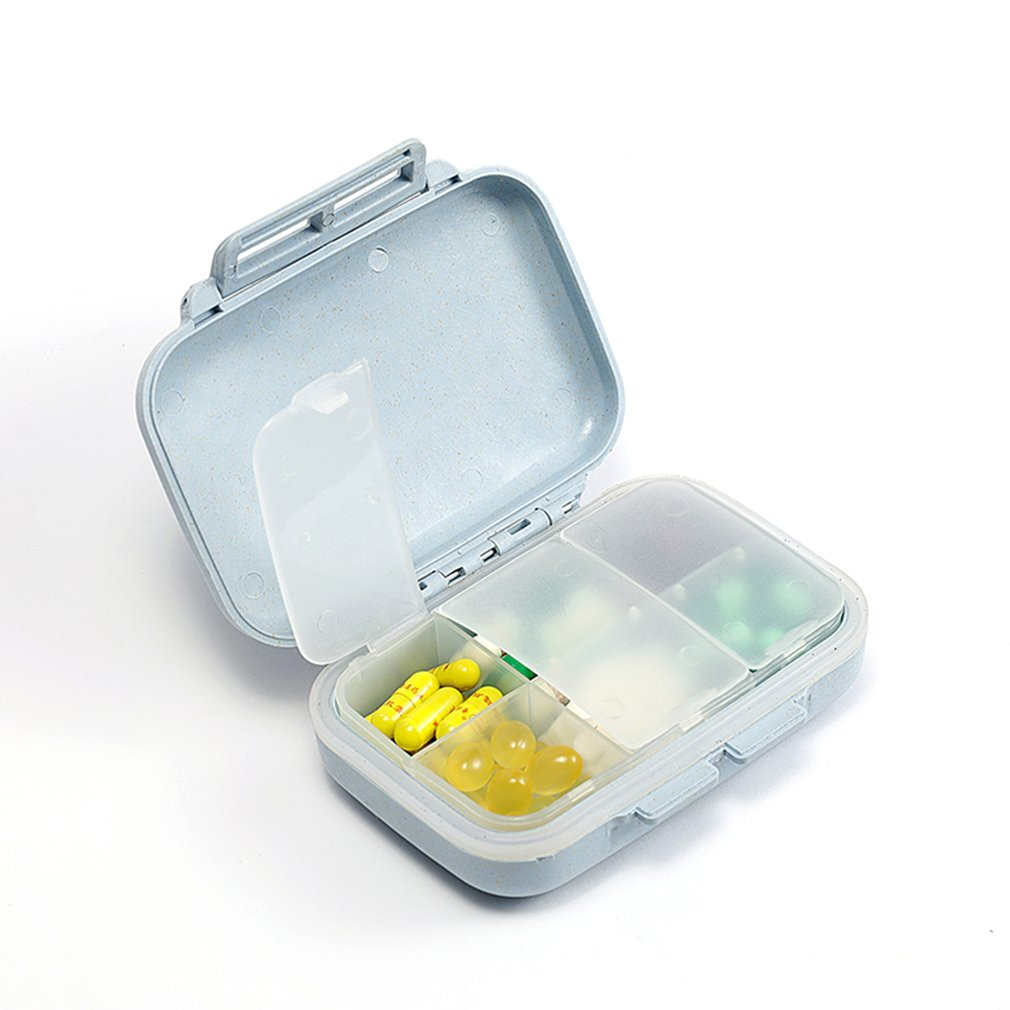 Portable Wheat Pill Box Vitamin Case with Removable 6 Compartment Container Emergency Bag Outdoor Survival Kit коробка для мушек snowbee slit foam compartment waterproof fly box x large