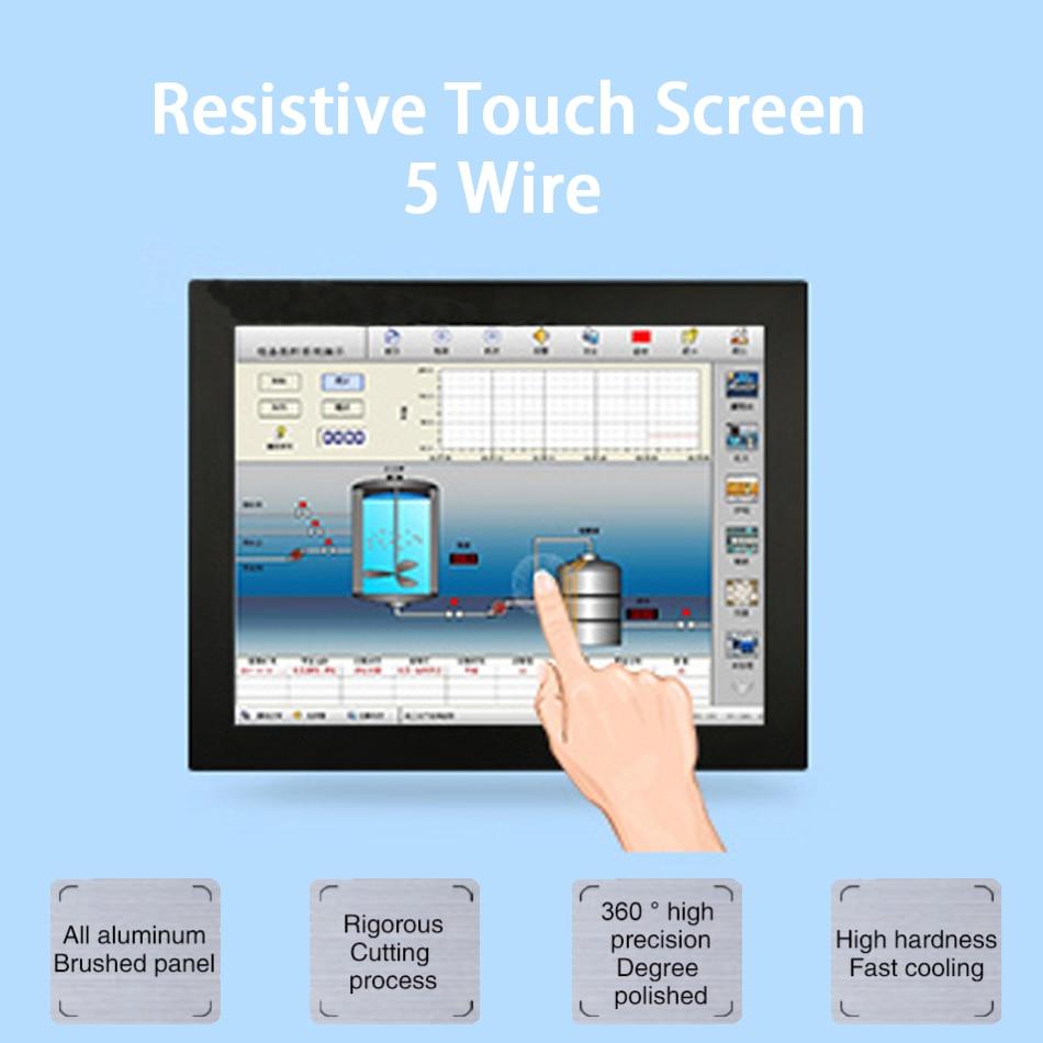 15 Inch LED Industrial Panel PC,Intel Celeron 3855U,Windows 7/10/Linux Ubuntu,5 Wire Resistive Touch Screen,[HUNSN DA09W]