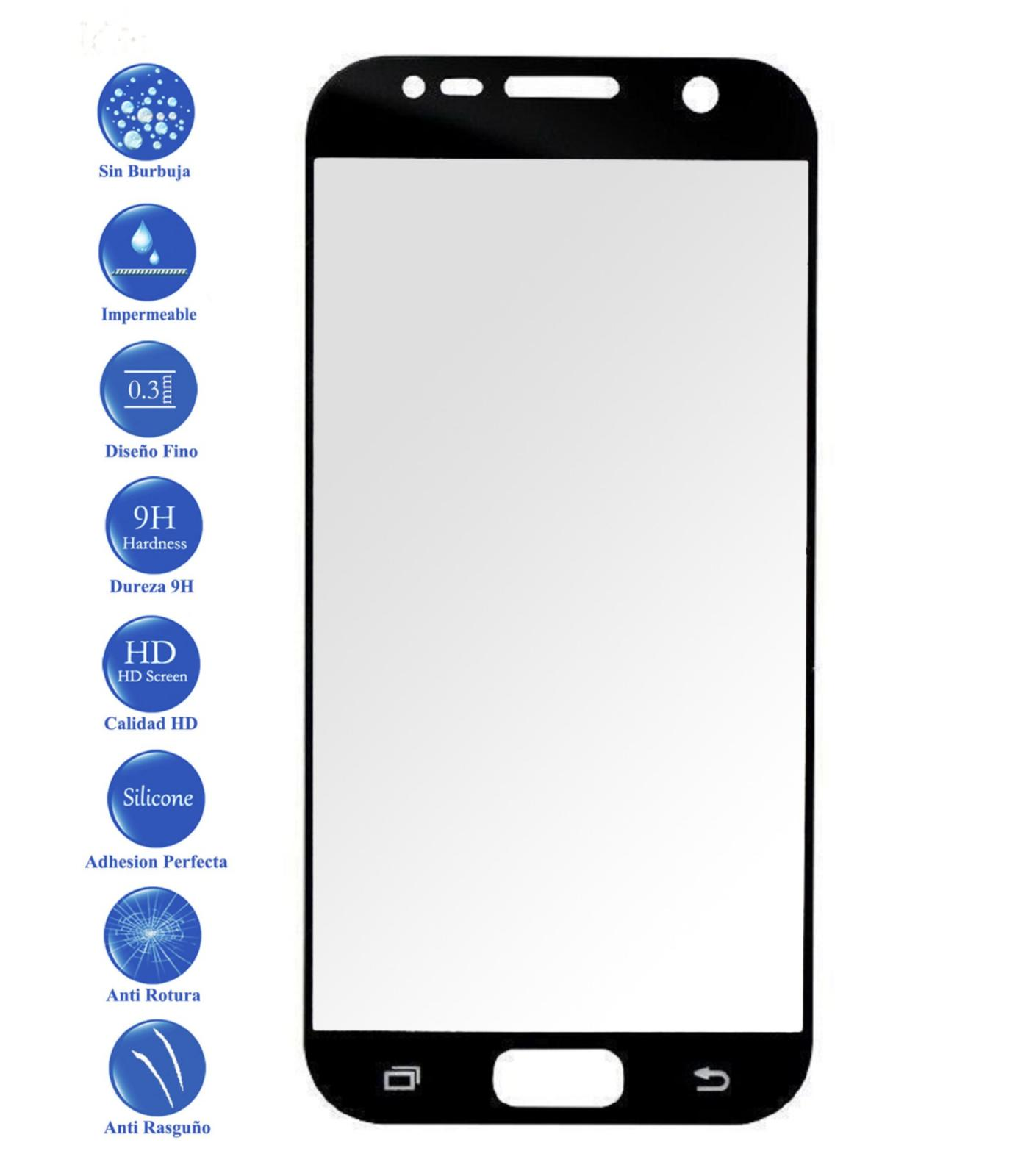 Tempered Glass Protector Vidrio Full 3D For Samsung Galaxy S7 Black