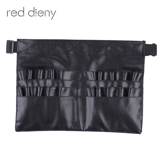 Black Two Arrays Makeup Brush Holder Professional Pvc A Bag Artist Belt Strap Protable Make Up Cosmetic