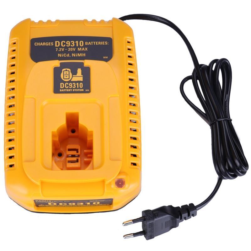 EU Plug For Dewalt Battery Charger DC9310 7.2V 18V Nicad & Nimh Battery DW9057 DC9071 DC9091 DC9096 Batteia Charger|Chargers| |  - title=