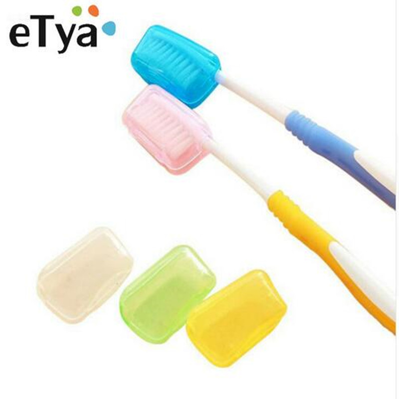 10 Pcs/Set Portable Travel Toothbrush Head Cover Multi Color 4*2*2.5cm Tooth Brush Holder Covers Toothbrush Protect Tools image