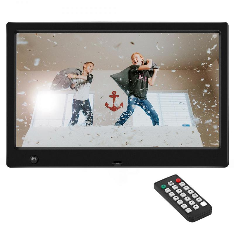 Digital Photo Picture Frames 10 inch HD Digital Frames Support MP3 MP4 Video Player Calendar Random Playback Mode Remote Control