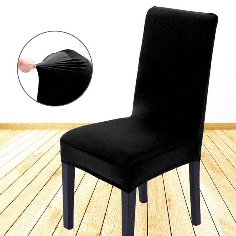 Новое поступление, чехлы для сидений, удобные, не мнется, спандекс, капюшон для стула, съемные, тянущиеся, для столовой, банкета, чехлы для сту...