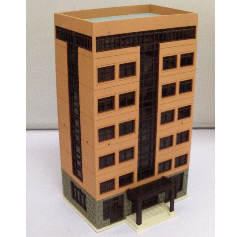 N Scale Outland Grand Apartment Model Colored Modern City Building Model Toys