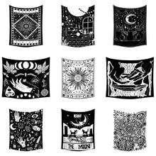 Таро Декор колдовство МАНДАЛА ГОБЕЛЕН настенный Солнце Луна психоделический гобелен стена Ouija хиппи бохо общежития Tapiz настенная ткань