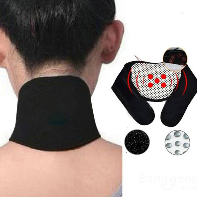 New Back Support Neck Guard Self-heating Brace Magnetic Therapy Wrap Protect Belt Support Pain Relief Heating Neck braces ~