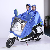 PVC Glue Motorcycle Raincoat Bicycle Poncho Rain Coat Oxford cloth 2 Person Rain Gear Cycling Cover Waterproof Bicycle rainwear