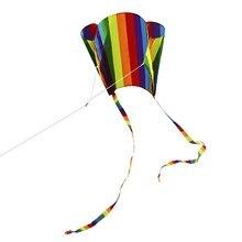 Красочные воздушный змей-параплан с 200 см хвосты 30 м Летающая линия открытый мягкий воздушный змей игрушка для детей