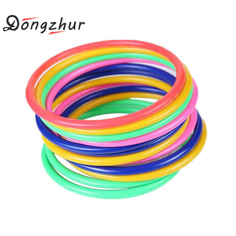 10 Pcs Throwing Ring Game Educational Funny Circle Game Toy Kids Children Gift Outdoor Games Plastic Throwing Circle Toy