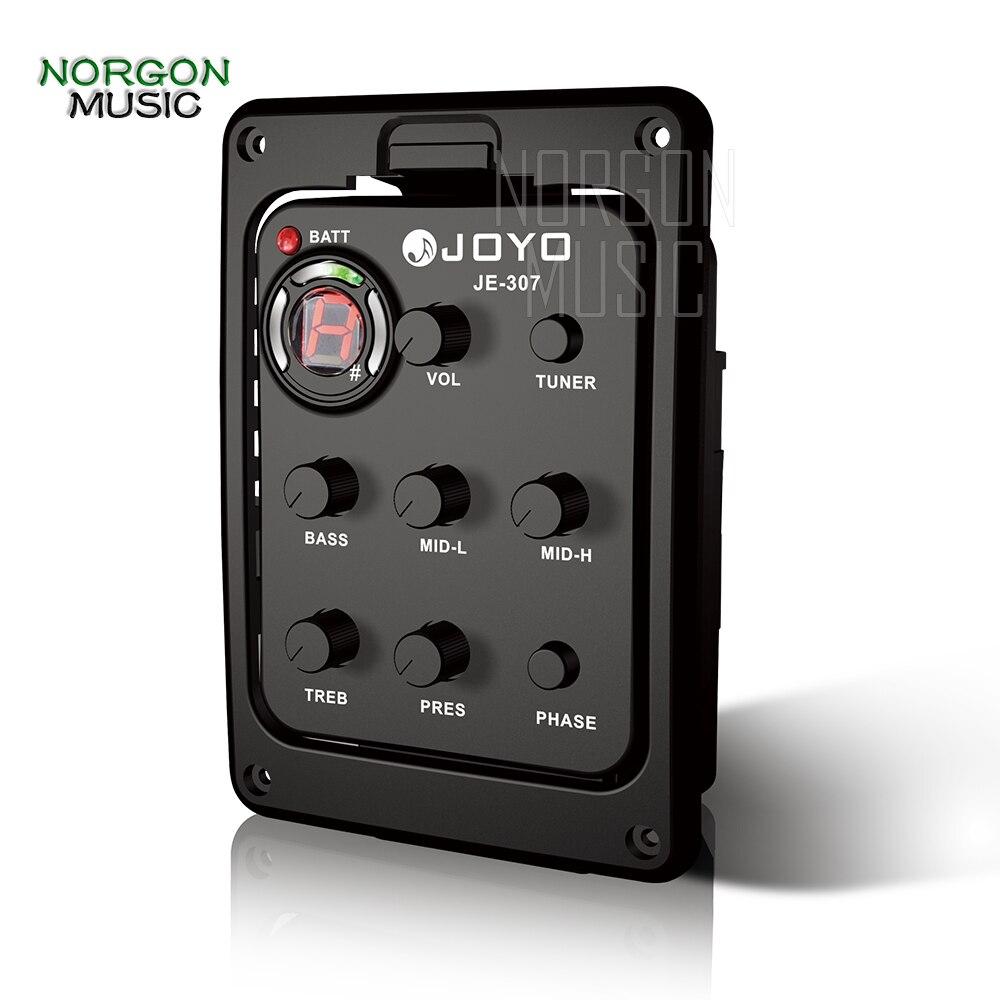 Joyo JE-307 5 bandes EQ égaliseur pièces et accessoires guitare acoustique préampli Phase Piezo pick Tuner