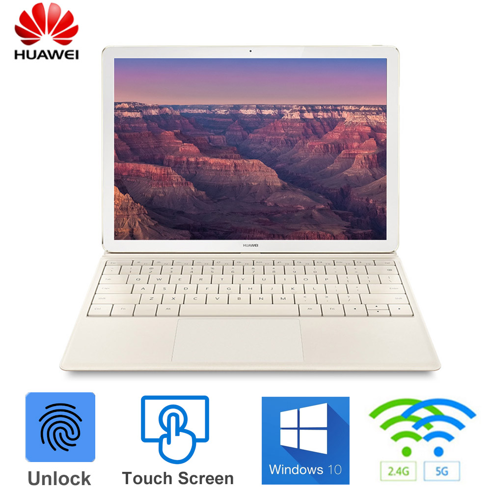 HUAWEI MateBook E BL-W09 2 in 1 Tablet PC 12 inch Windows 10 OS Dual WiFi 2.4GHz 5.0GHz Intel Core M3 7Y30 4GB 128GB Laptops