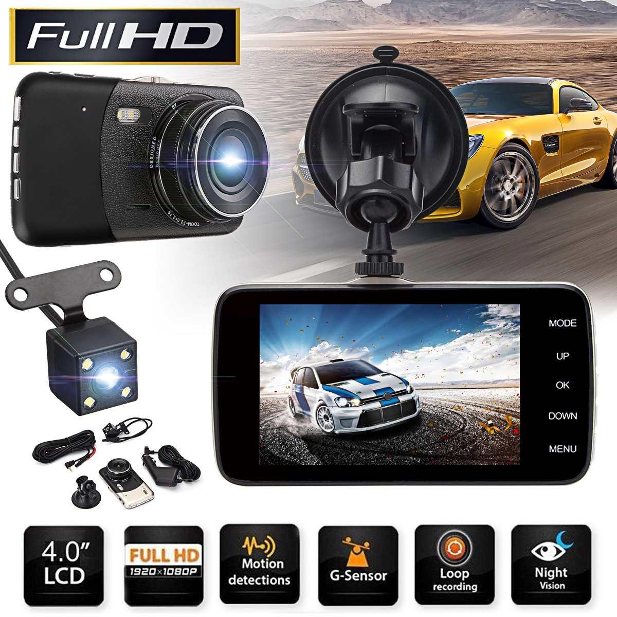 Dual Lens Dash Camera Cam 4.0 Car DVR Full HD 1920*1080P Digital Video Recorder Camcorder with Rear view Auto Night VisionDual Lens Dash Camera Cam 4.0 Car DVR Full HD 1920*1080P Digital Video Recorder Camcorder with Rear view Auto Night Vision