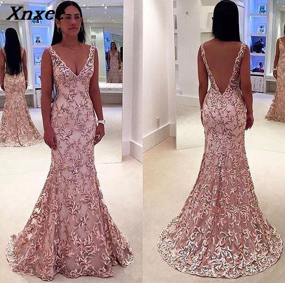 Xnxee New Sexy Solid Sleeveless Lace Backless Long Dress Women Winter Dresses 2019 Vestidos Fashion Party Dress Vestido Xnxee