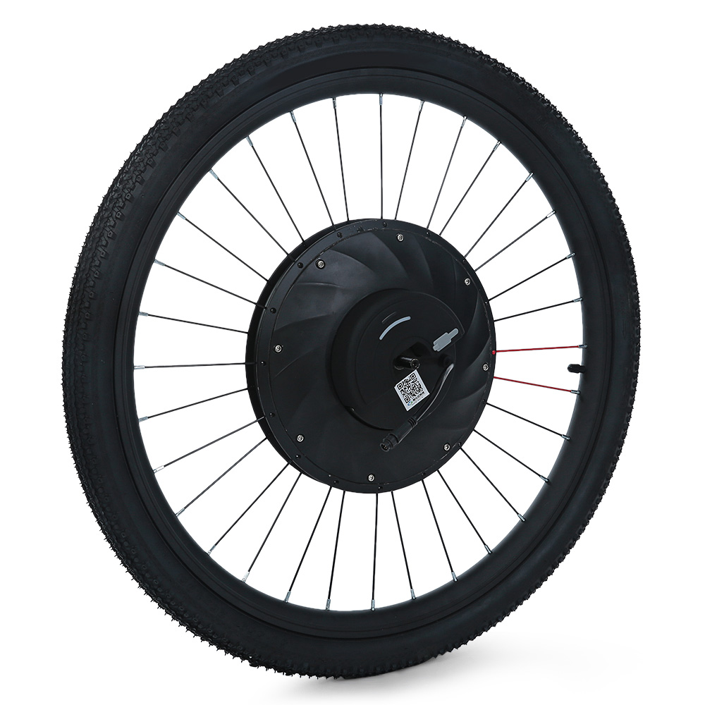 YUNZHILUN 36V X iMortor 26 inch Bluetooth 4.0 Smart Electric Front Wheel for Bicycle Motorbike 36V Large Capacity Battery