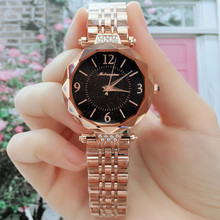 Hot Sale 5-colors Delicate Starry Sky Quartz Watch for Women Simple Fashion Top Quality Waterproof Steel Wrist Strap