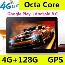 цены 2019 New 10 inch Octa Core 3G/4G Tablet pc 4GB RAM 128GB ROM 1280*800 Dual Cameras Android 8.0 Tablets 10.1 inch Free Shipping