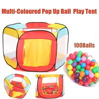 Play House Indoor / Outdoor Folding Ocean Ball Pool Pit Game Tent Play Garden Playhouse Kids Children Toy Tent with 100 Balls
