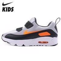 Nike AIR MAX TINY 90 детская Волшебная обувь для мальчиков и девочек; повседневная обувь для бега; кроссовки #881927 009