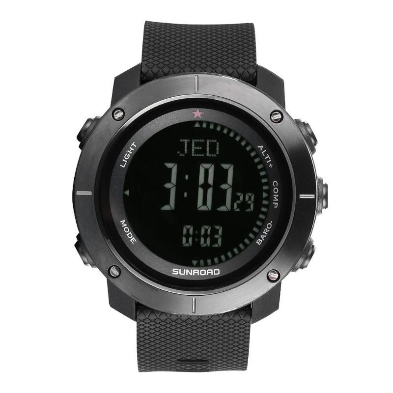 SUNROAD Sports de plein air Fitness suivi baromètre podomètre boussole montre