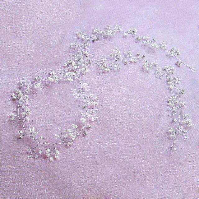 Купить свадебные аксессуары для волос украшение с кристаллами и жемчугом