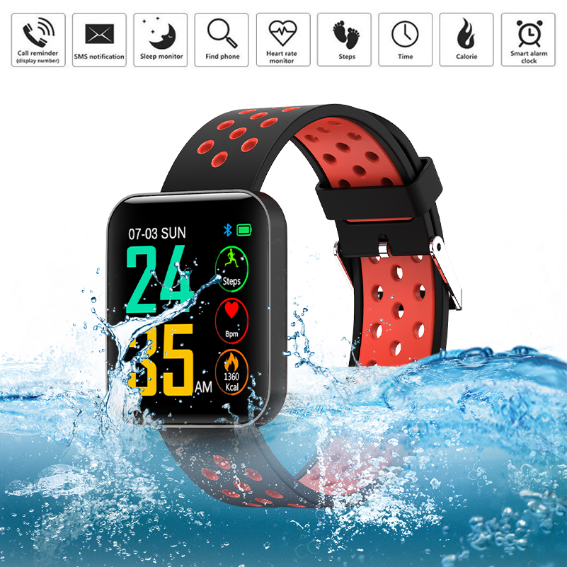 GZDL 1.54'' LCD Sleeping Heart Rate Blood Pressure Monitor Sports For ios Android Samsung Huawei Honor Xiaomi WT8344