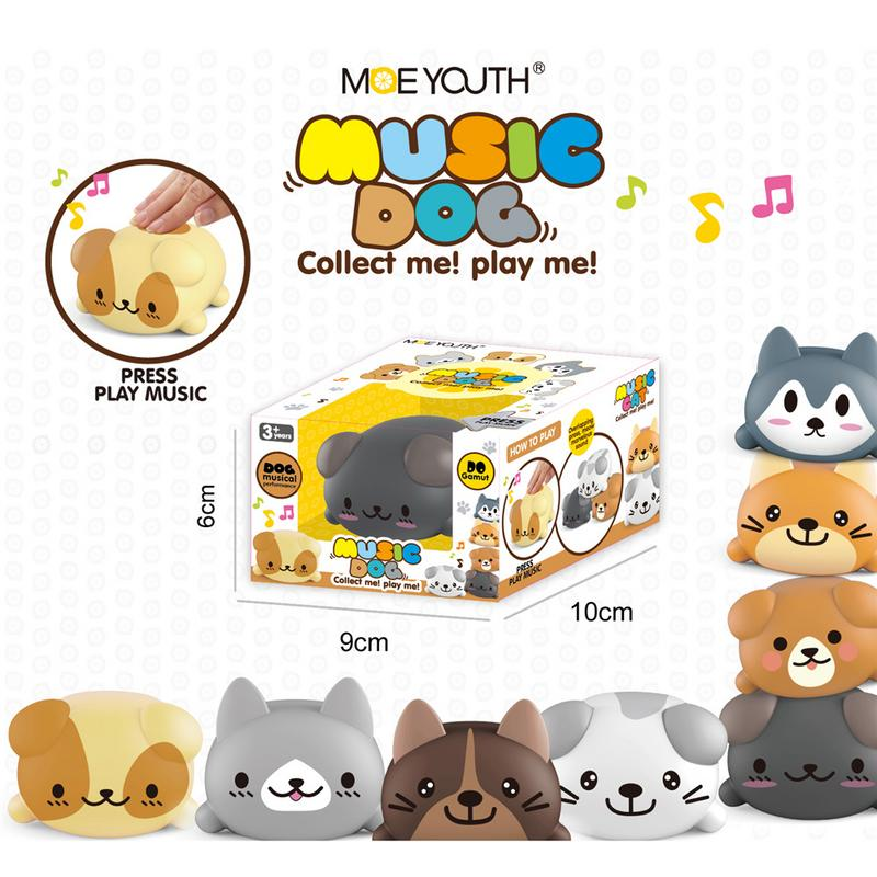 Toys & Hobbies Responsible 8pcs/set Baby Kids Musical Scale Cats/dogs Electric Player Piano Choir Music Player Silica Gel Animals Toy Funny Educational Toy Jade White