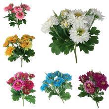 Handmade Fake Flower Mini Silk Rose Bouquet Artificial Wedding Decoration DIY Wreath Clip Art
