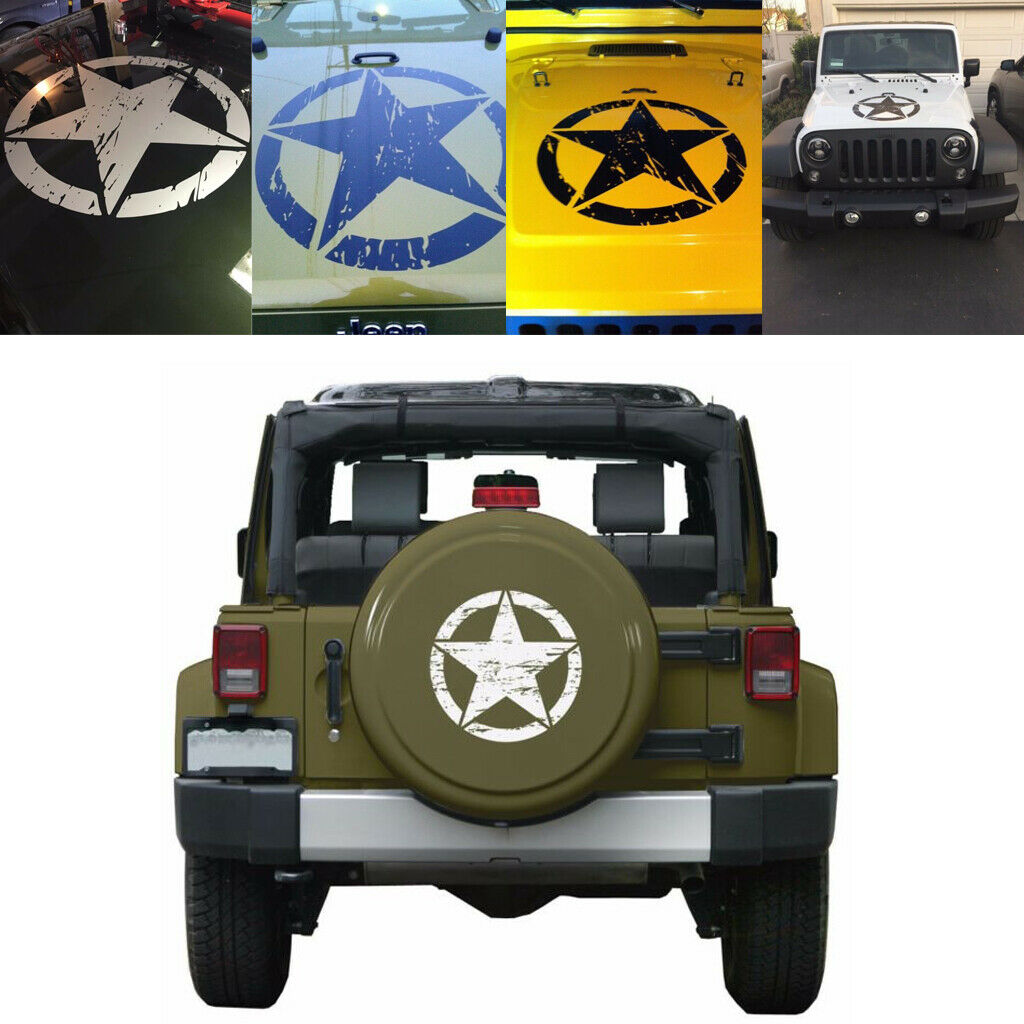 Us 3 79 17 offarmy distressed star jeep willys cj car custom color personalized decal sticker in car stickers from automobiles motorcycles on