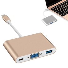 New Type C USB 3.1 to USB-C 4K HDMI USB 3.0 Adapter 3 in 2 Hub For Apple Macbook