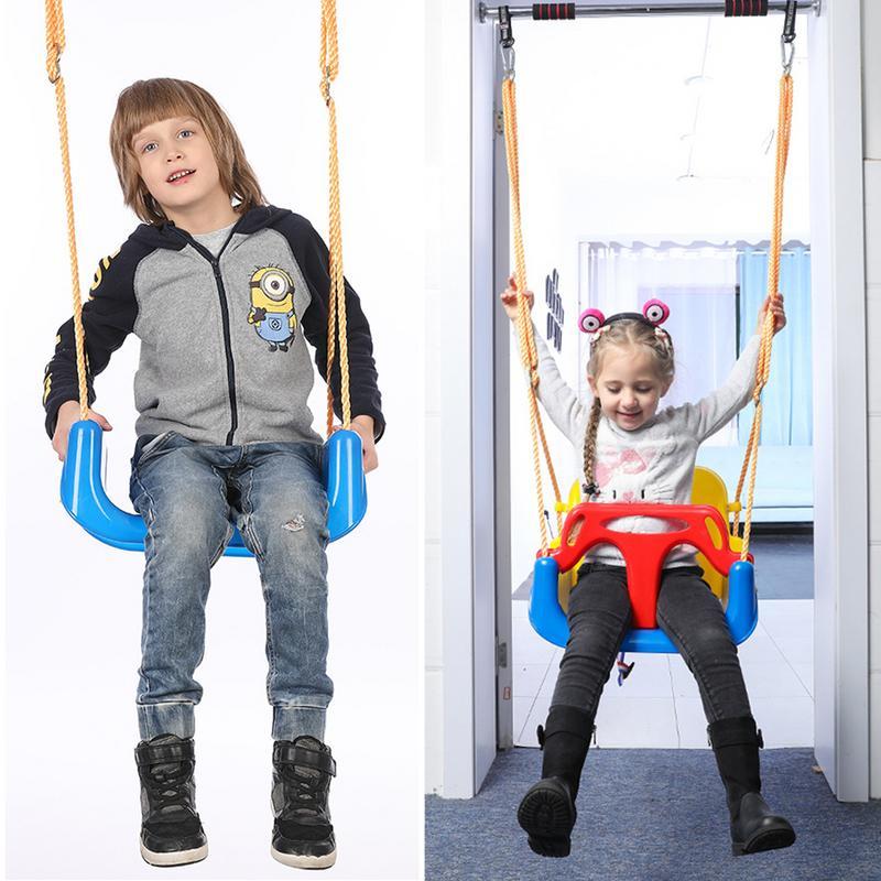 Ensemble de balançoire 3 en 1 adapté aux bébés et aux tout-petits pour les enfants et les jeunes sièges de balançoire à l'intérieur et à l'extérieur