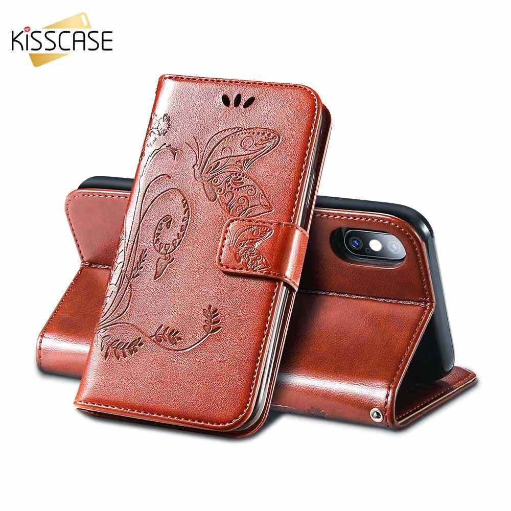 KISSCASE Leather Wallet Case For Huawei Mate 20 20X 10 Lite P10 P20 Pro Y3 Y5 Y6 2017 Y9 2018 Honor 9 10 Lite 6A 7X 8X Phone Bag