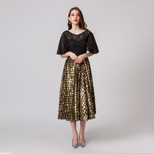 1e69c9a1aa77a Buy cocktail dress black gold and get free shipping on AliExpress.com