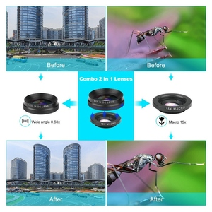 Image 5 - 4 In 1 Phone Lens 0.63X Wide Angle Macro Fish Eye Telephoto Zoom Lens For Samsung S8 S9 Plus Phone Camera Lens Kit