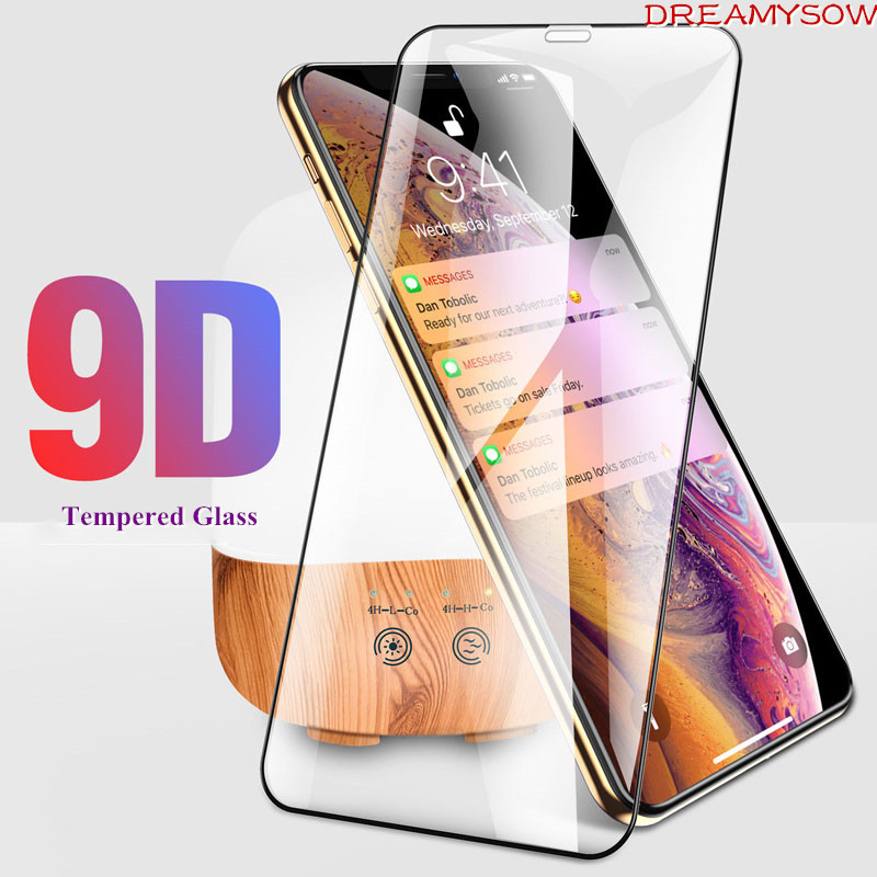 9D Protective Glass for iPhone 7 Screen Protector For  iPhone 8 Xr Xs Xs Max Tempered Glass For iPhone X 6 6s 7 8 Plus Xs Glass
