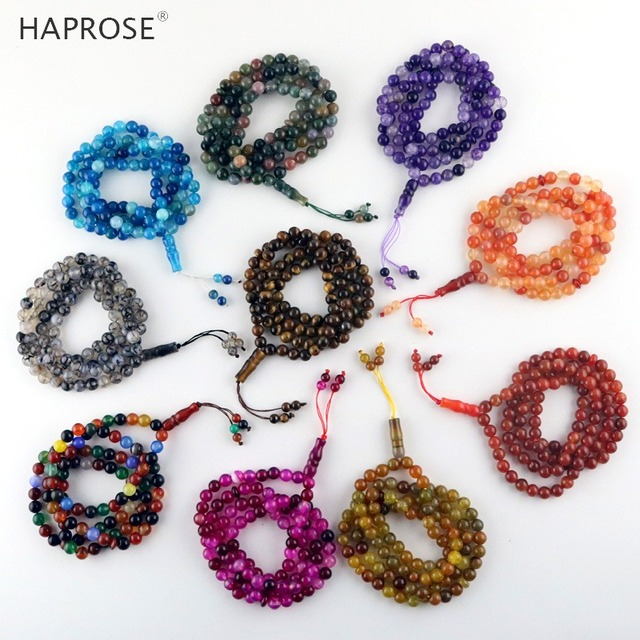 100% Natural agate tasbi necklace Round Shape Prayer 99 beads Islamic Muslim tasbih Allah Rosary blue agate 8mm free shipping