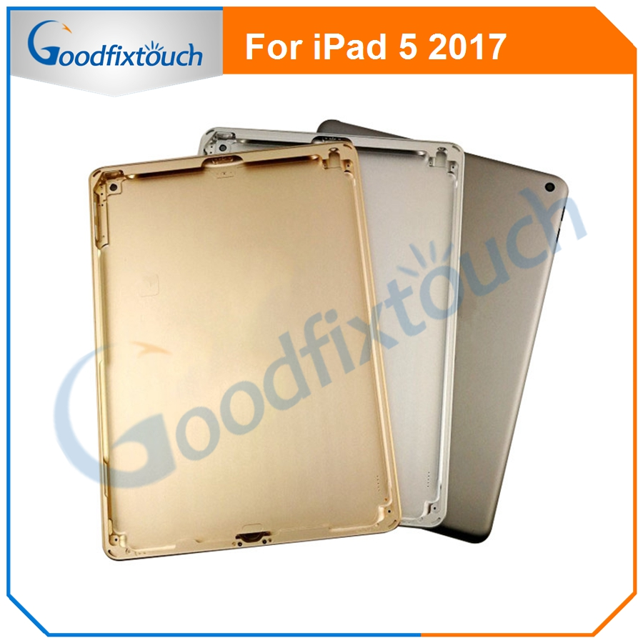 For iPad <font><b>5</b></font> <font><b>2017</b></font> New Battery Back Cover Rear Door Housing Case Phone Replacement Parts Housing For iPad <font><b>5</b></font> A1822 A1823 image
