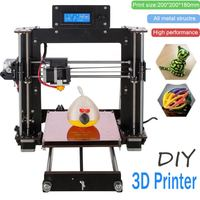 3D printing Dual Extruder Mixed Color Laser Engraving Machine Kit USB SD 3D Printer DIY Full Metal Reprap Auto Leveling