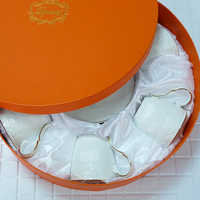 Tasse à café en porcelaine osseuse tasse à thé en céramique soucoupe cuillère en ensemble tasse à expresso en porcelaine créative avancée pour cadeau