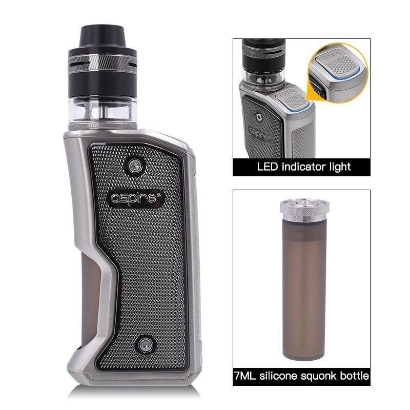 Cigarette électronique Squonk Aspire Feedlink Vape Kit avec 7ML Silicone bouteille 510 Mod et 2ML Revvo Boost réservoir utiliser 18650 batterie - 2