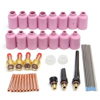 46PCS For WP 17/18/26 WL20 TIG Welding Torch Stubby Gas Lens Kit Tools Welding Accessories