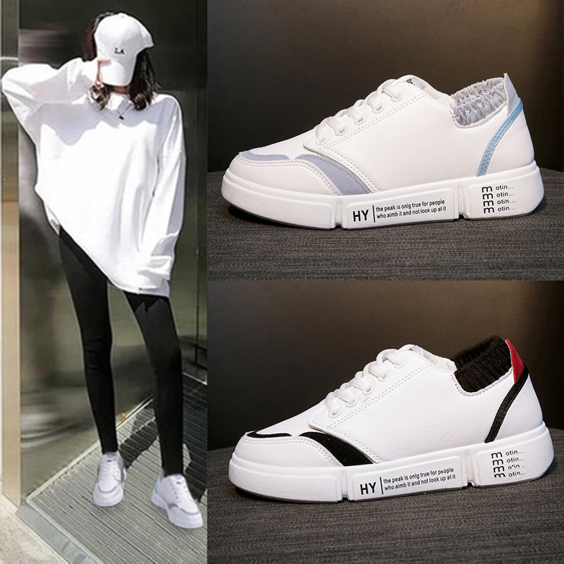 Spring New Pattern Ventilation Small White Shoes Schoolgirl Basics Run Skate Shoes Flat Bottom All-match. Casual Shoes WomanSpring New Pattern Ventilation Small White Shoes Schoolgirl Basics Run Skate Shoes Flat Bottom All-match. Casual Shoes Woman