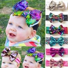 Baby headband headscarf warm flower sequin bow newborn baby girl