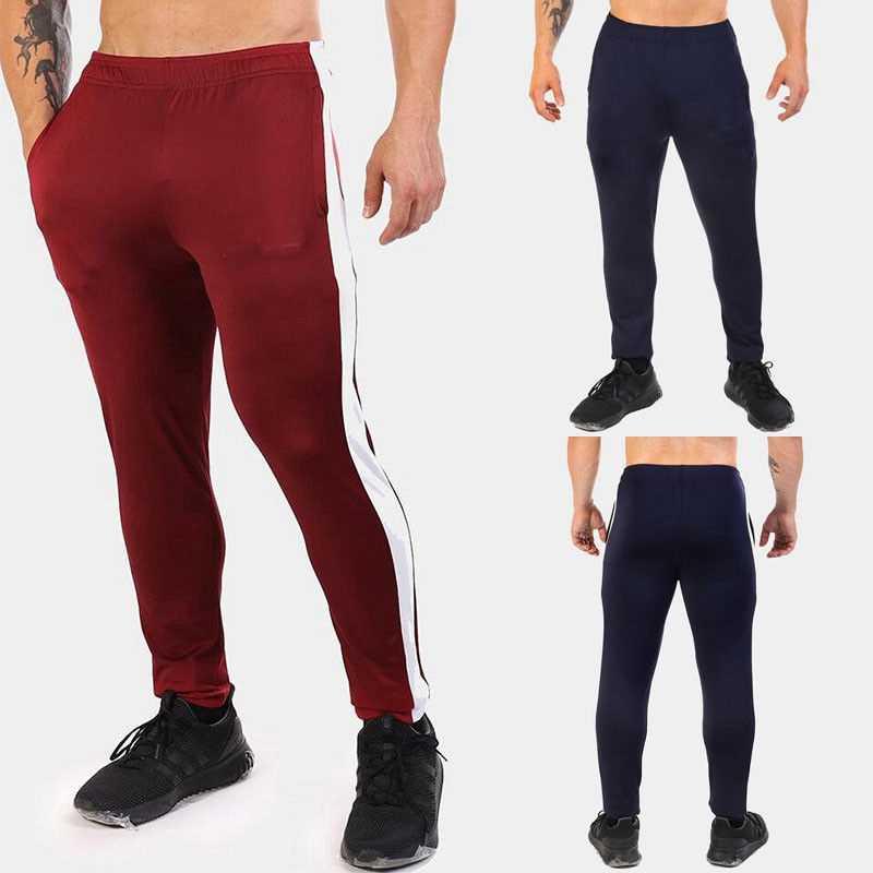 Mens Slim Fit Trainingspak Sport Gym Skinny Jogging Joggers Zweet Broek Broek